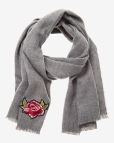 Embroidered Rose Scarf