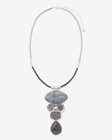 Vertical Stone Statement Necklace