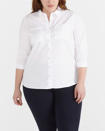 Plus Size 3/4 Sleeve Shirt