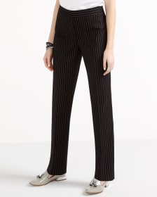 Slim Leg Striped Pants