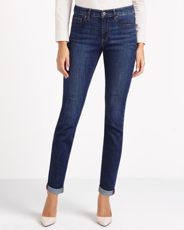 Skinny Jeans with Rolled Hem