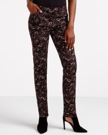 Slim Leg Printed Pants