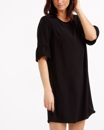 Ruffle 3/4 Sleeve Dress