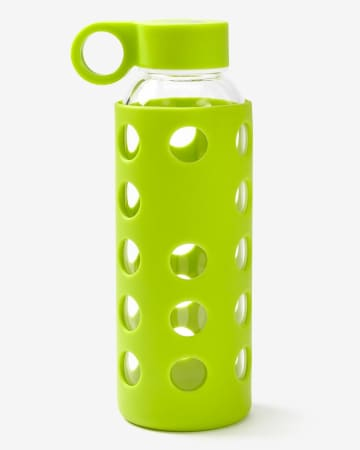 Hyba Glass Water Bottle with Silicone Sleeve