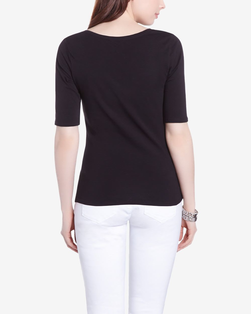 elbow sleeve t shirt women reitmans
