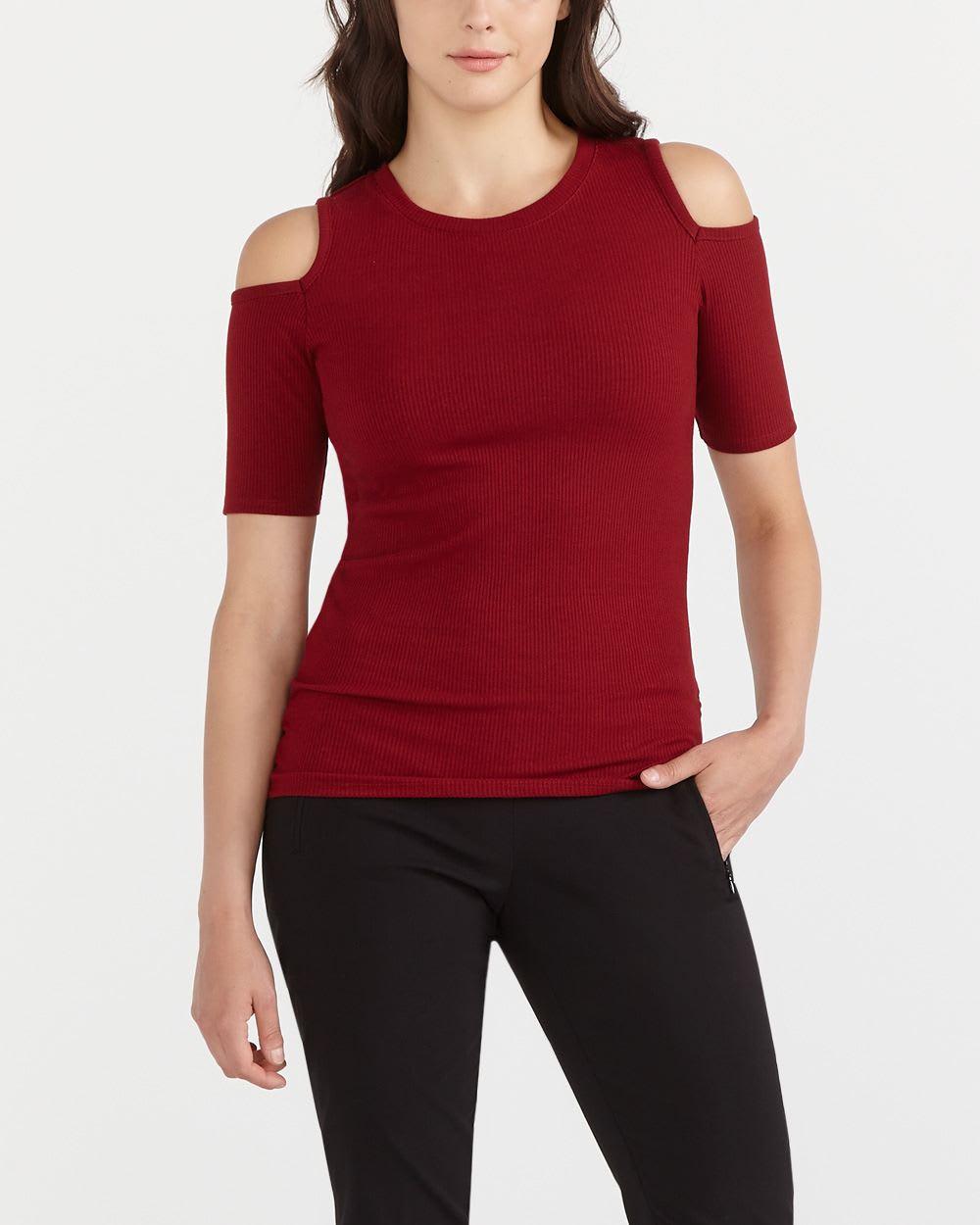 cold shoulder t shirt women reitmans. Black Bedroom Furniture Sets. Home Design Ideas