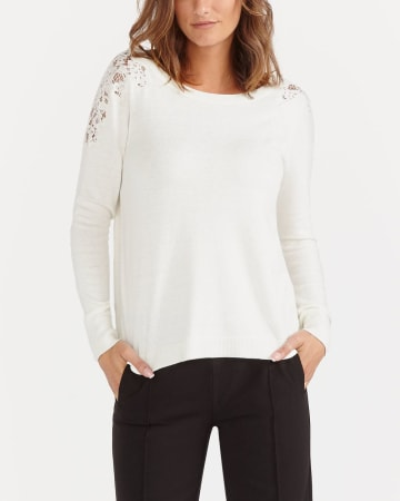 Long Sleeve Lace Sweater