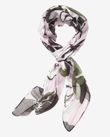 Abstract Floral Pattern Scarf