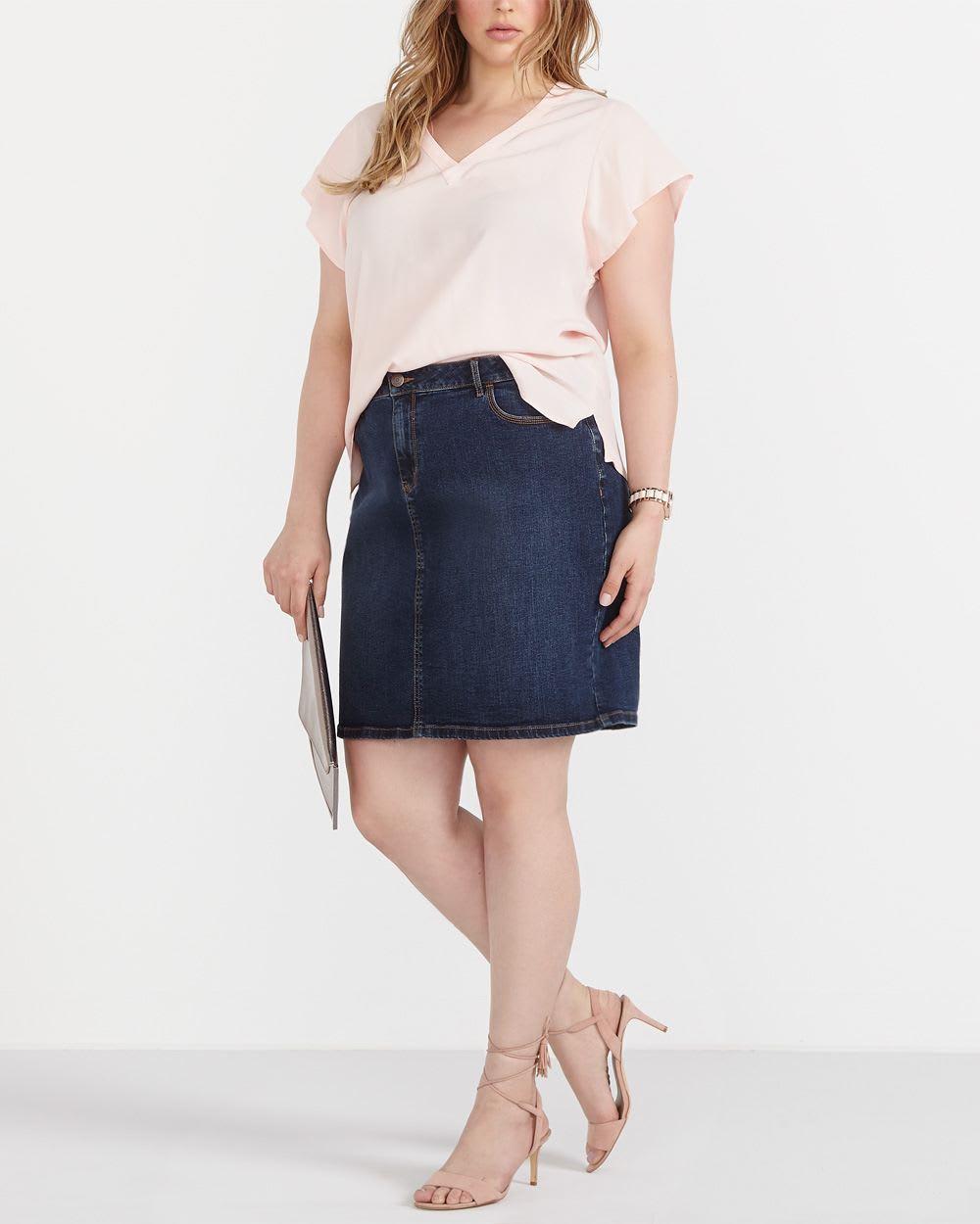 plus size denim skirt plus sizes reitmans