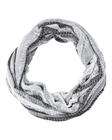 Textured Striped Infinity Scarf
