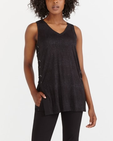 Tank Top with Lace-Up Sides
