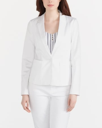 Long Sleeve Sateen Blazer