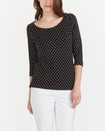 Semi-Fitted Polka Dot Tee