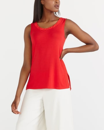 Solid Round Neck Tank