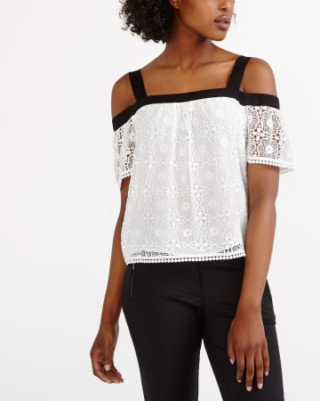 Crochet Cold Shoulder Blouse
