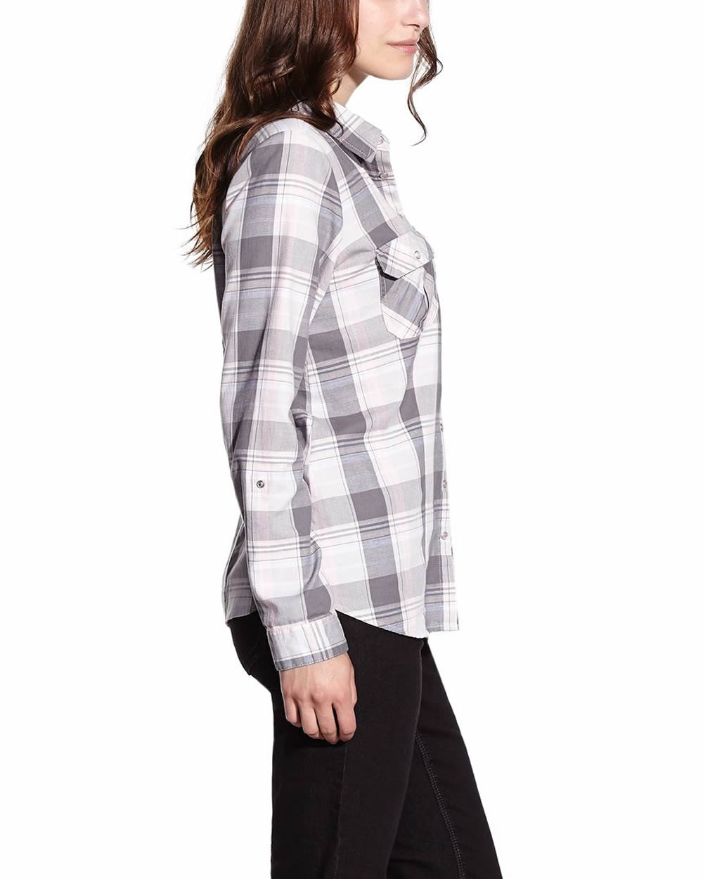 Long Sleeve Plaid Shirt Women Reitmans