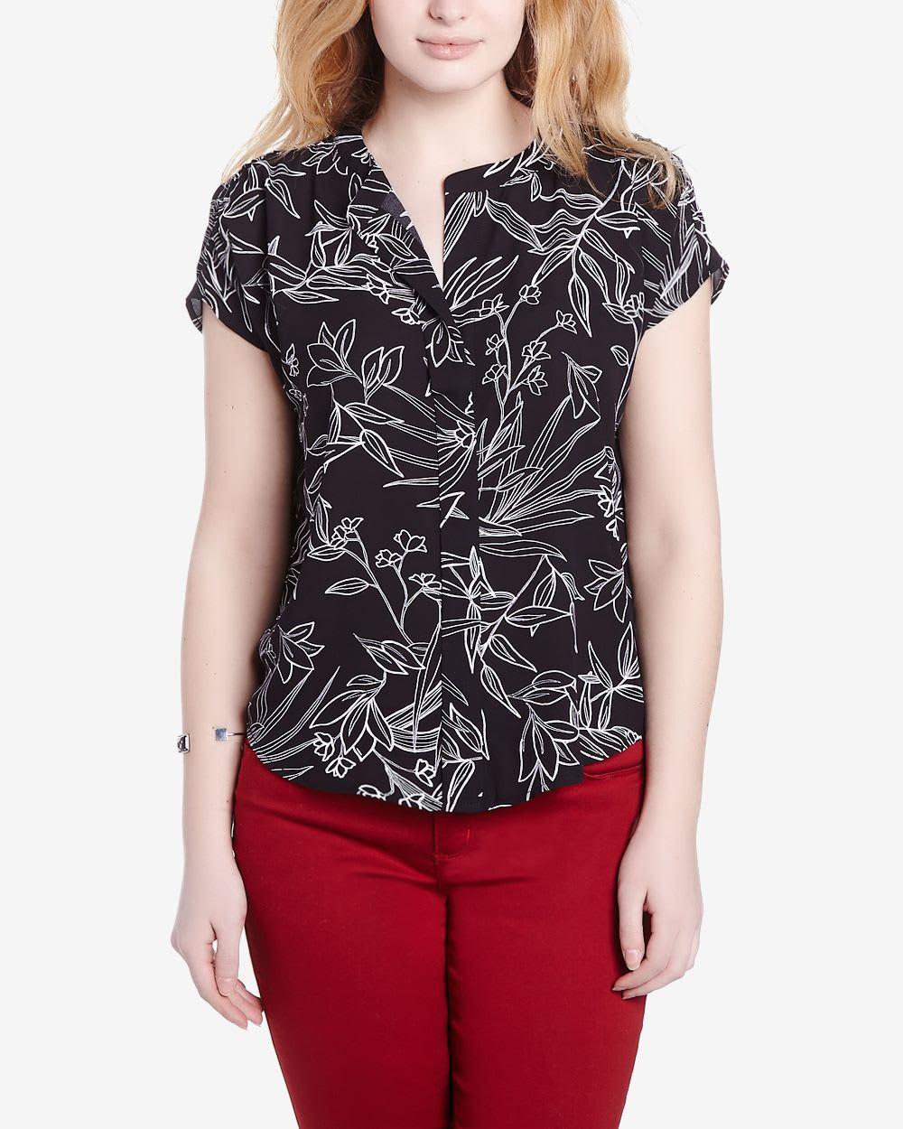 Zenobia Short Sleeve Printed Blouse 25