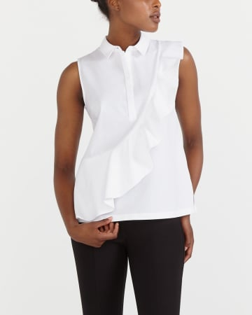 Sleeveless Poplin Shirt