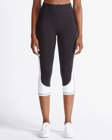 Hyba Colourblock Reflective Capri Legging