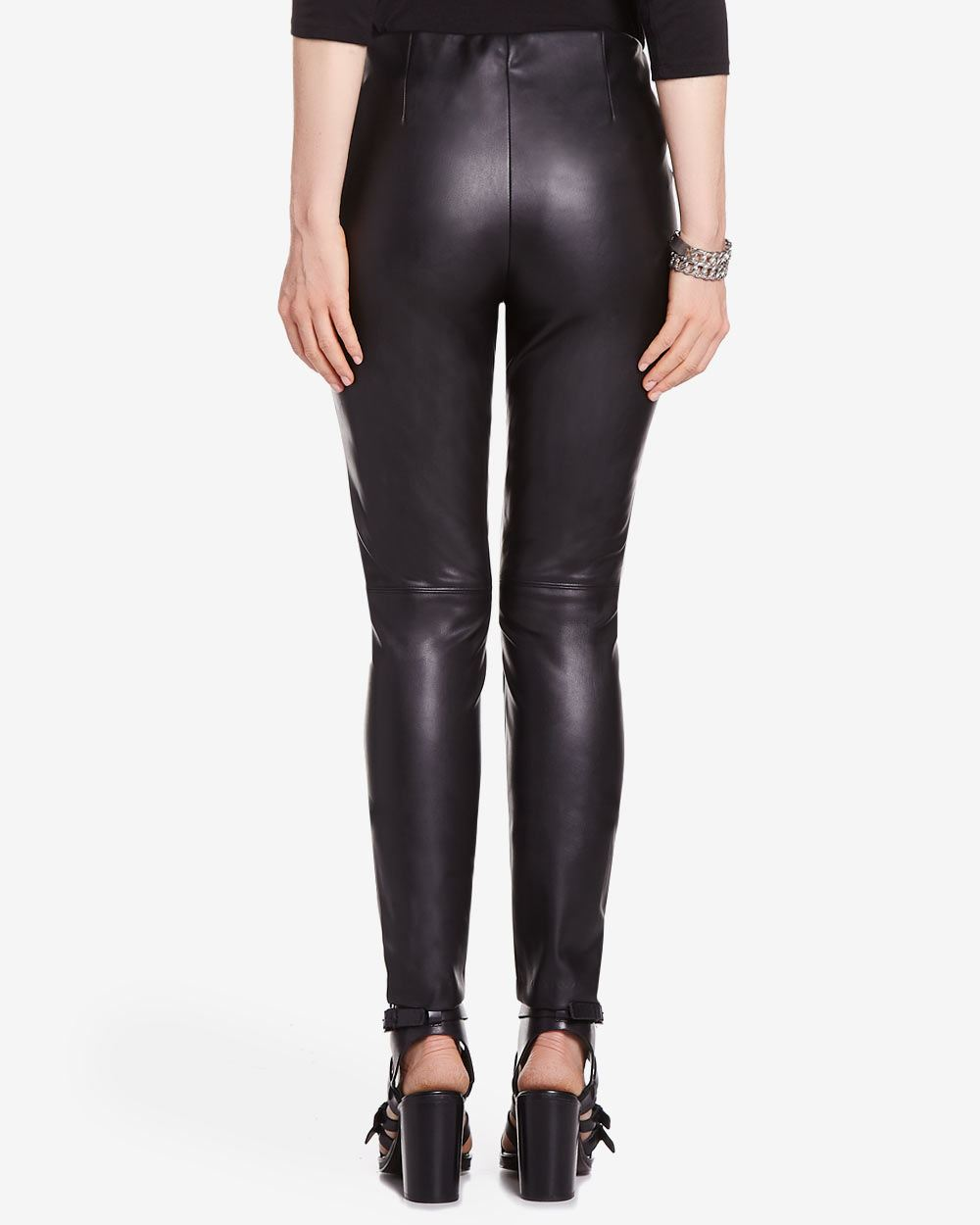 Find faux leather leggings that work great as casual wear, and select options with different leg cuts to complement your fashion-forward look. Ultra-tight legs look great with longer tops and boots, while boot-cut legs make an excellent choice for work and pair well with pumps. Enjoy firm control for a smooth profile with high-waist leather leggings.