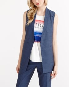 Willow & Thread Sleeveless Open Vest