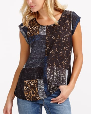 Faux Sequin Top