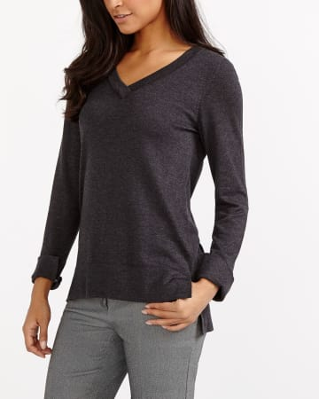 R Essentials Asymmetric Hem Sweater
