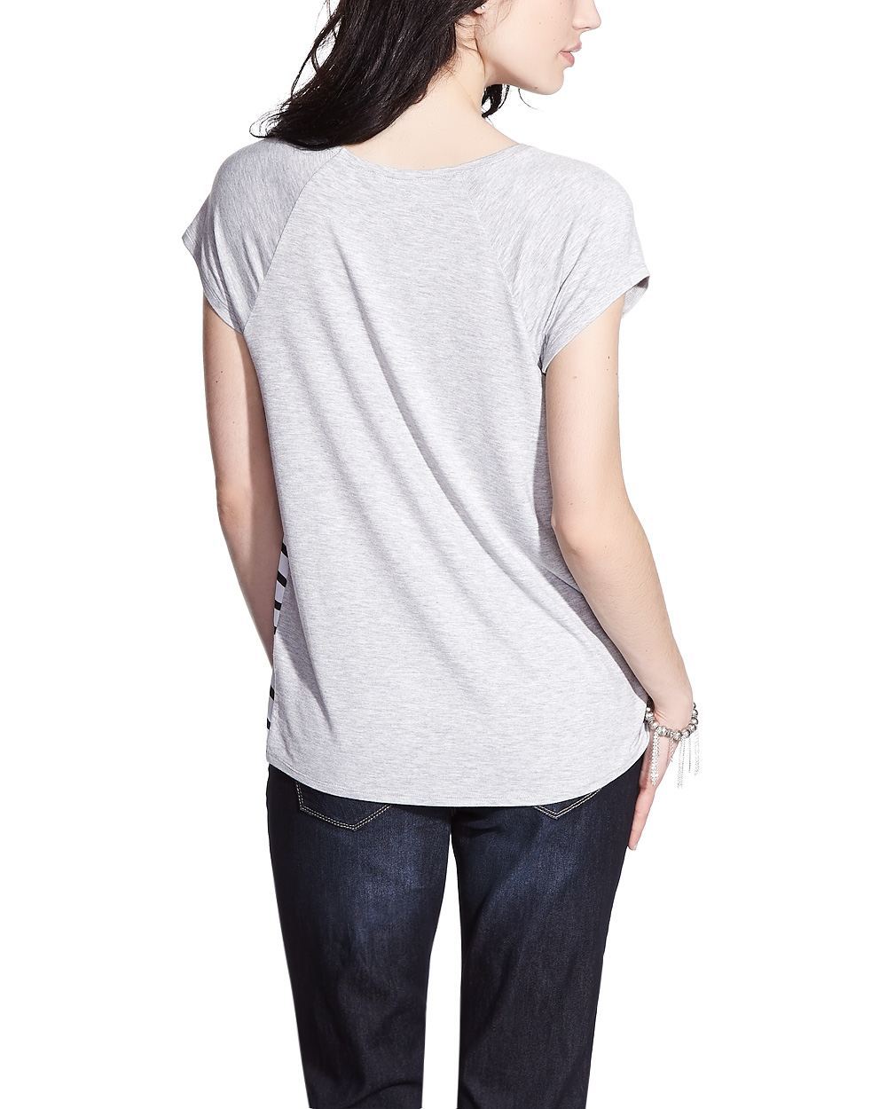 Petite printed t shirt petites reitmans for Petite white tee shirt