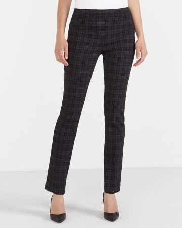 The Petite Original Comfort Straight Leg Plaid Pants