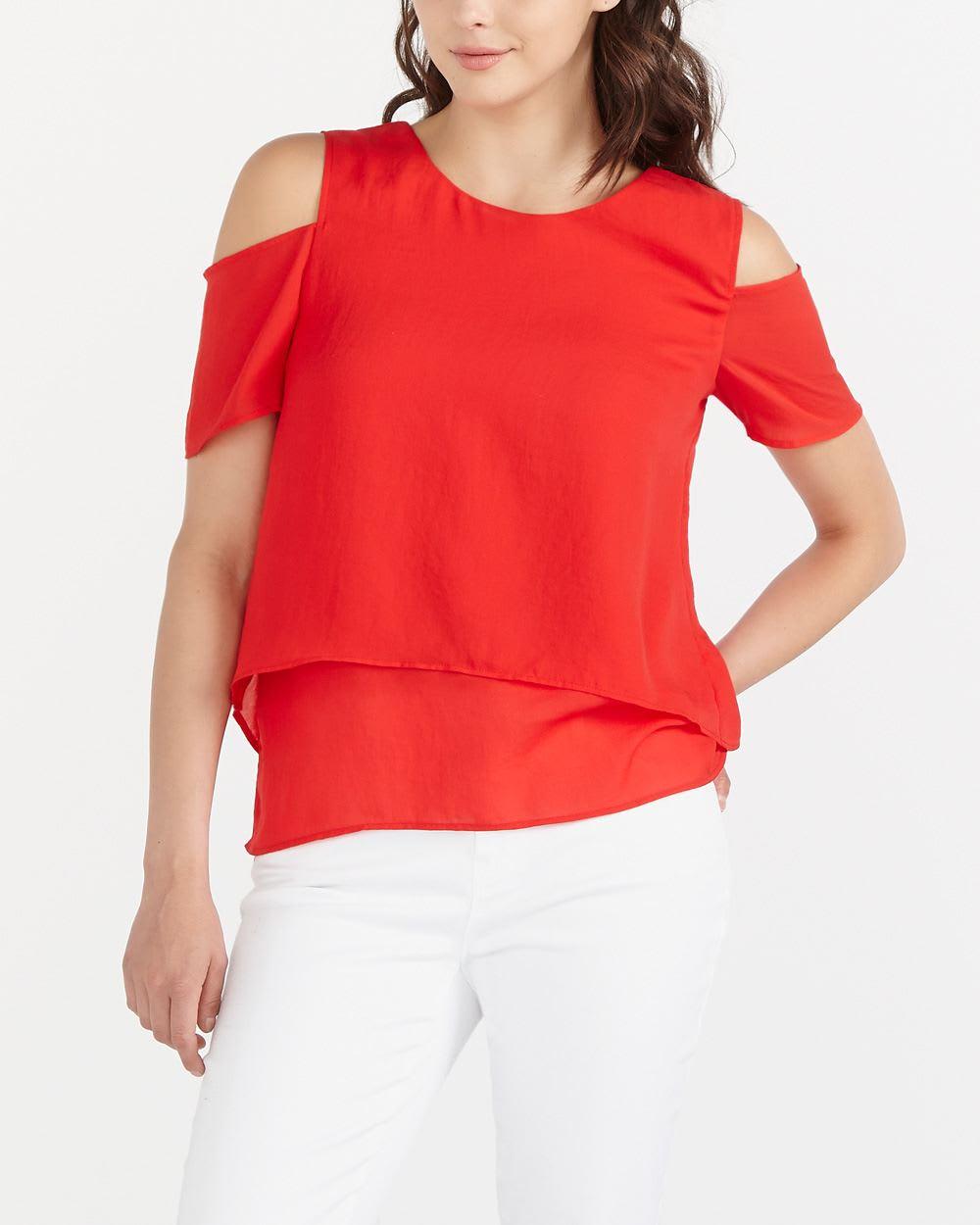 cold shoulder blouse women reitmans. Black Bedroom Furniture Sets. Home Design Ideas
