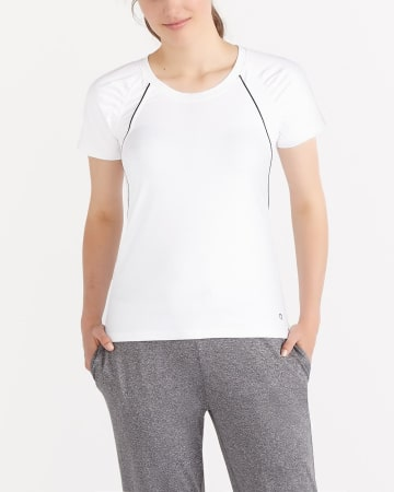 Hyba Shirred Moisture-Wicking Tee