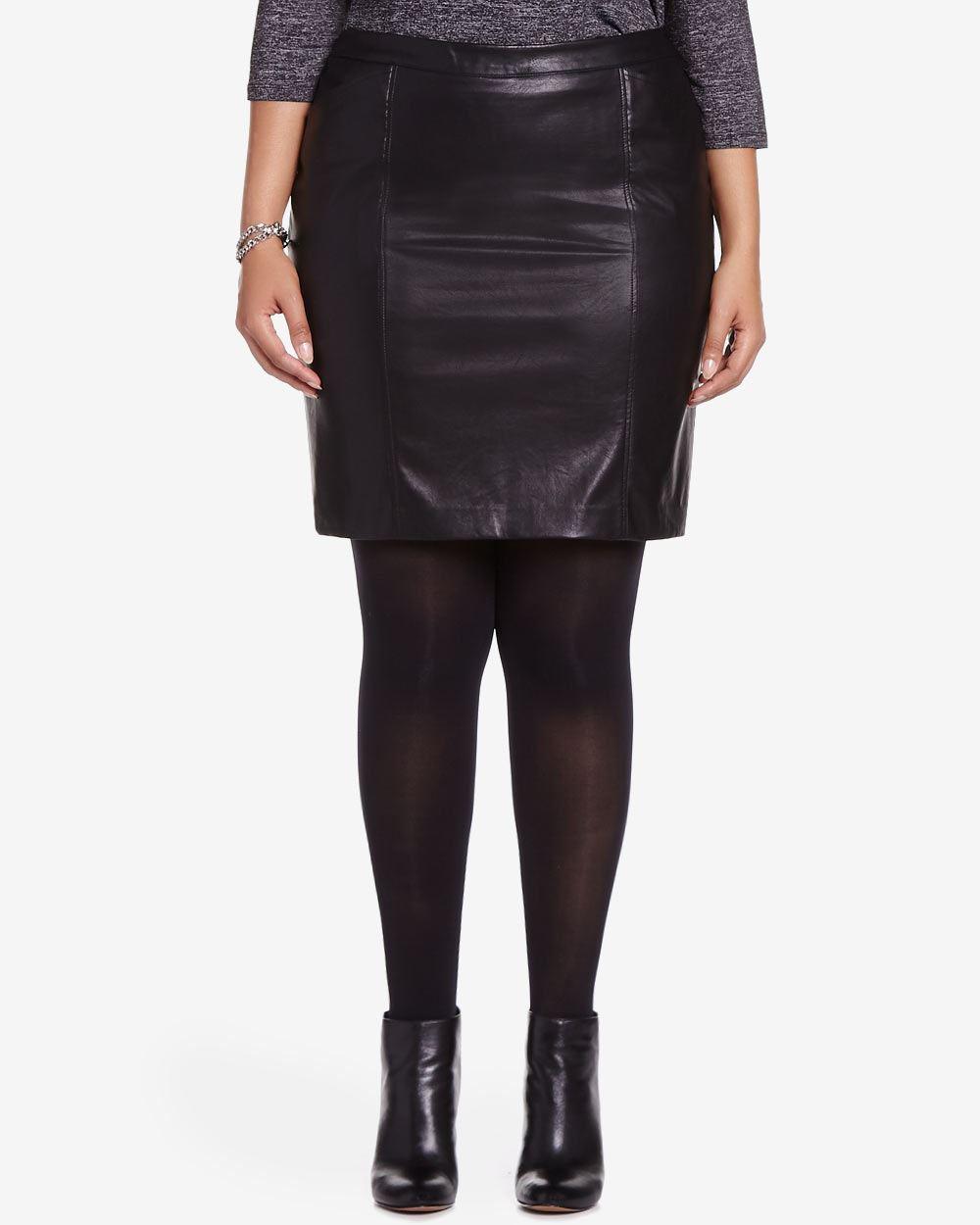 plus size faux leather mini skirt plus sizes reitmans