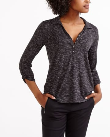 Johnny Collar Henley Top