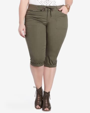 Plus Size Casual Capris