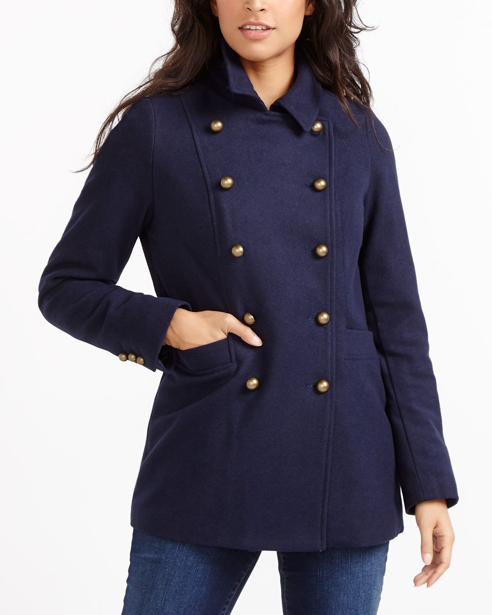 Classic pea coat women