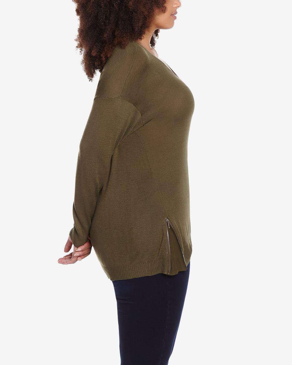 V Neck Sweater Plus 105