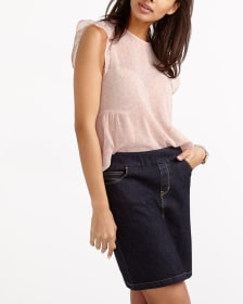 L'Authentique Jupe-Short Confort en jeans