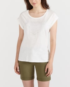 Embroidered Short Sleeve Tee