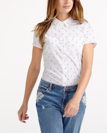 R Essentials Crisp Printed Shirt