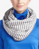 Hyba Striped Infinity Scarf
