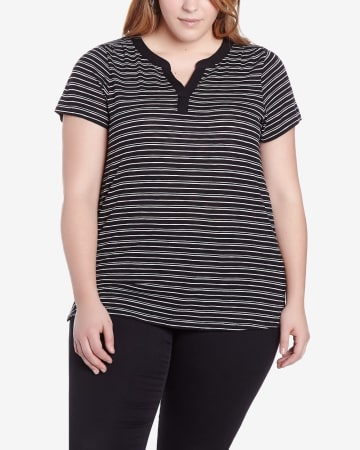 Plus Size Striped Tee