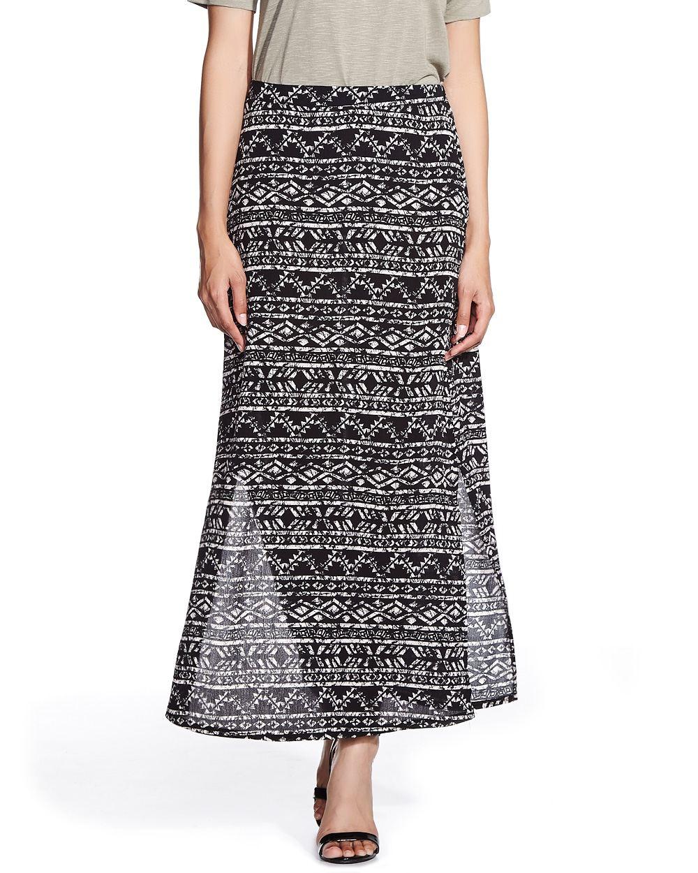 printed maxi skirt petites reitmans