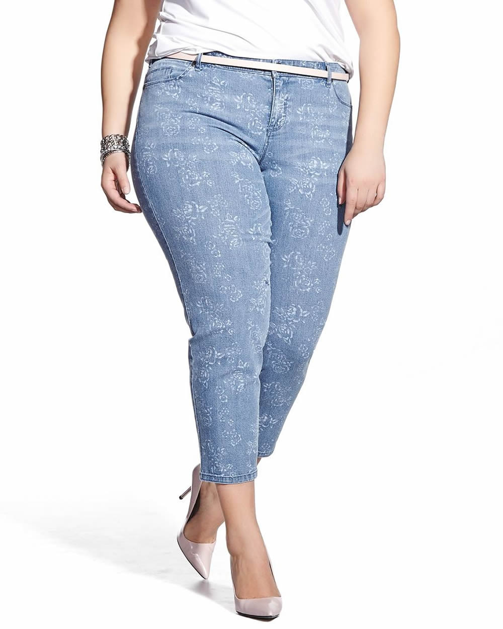 Plus Size Printed Jeans | Jeans To