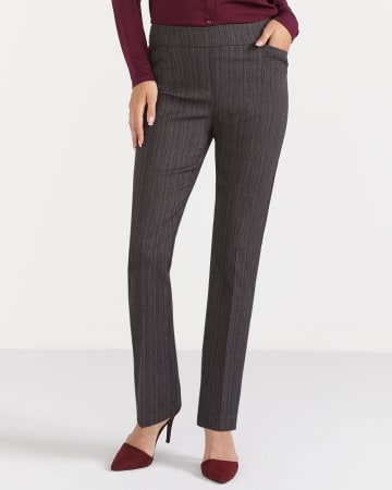 The Petite Iconic Straight Leg Textured Pants