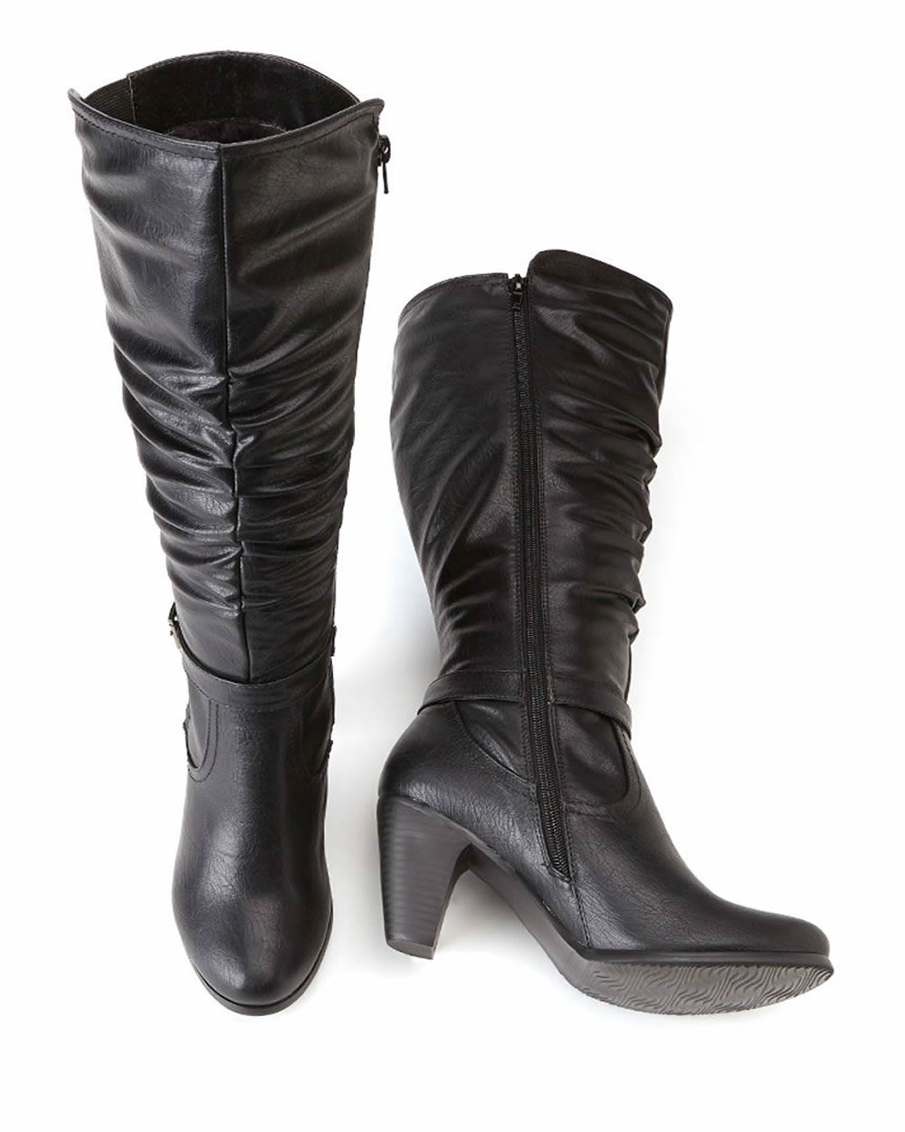 wide calf wide fit pleated boots 18 inches reitmans