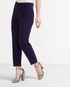 Solid Ankle Slim Pants