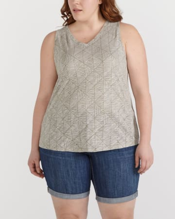 Plus Size Printed Tank Top