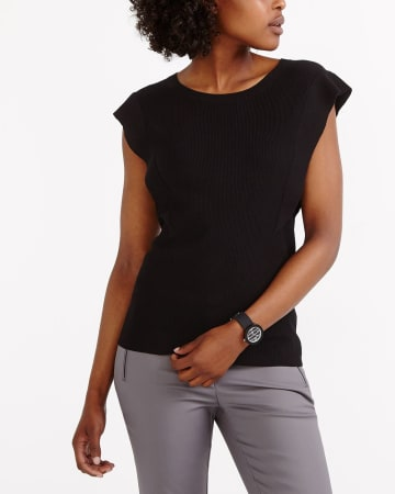 Sleeveless Ruffle Sweater