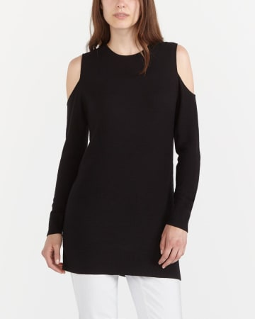 Cold Shoulder Sweater Tunic
