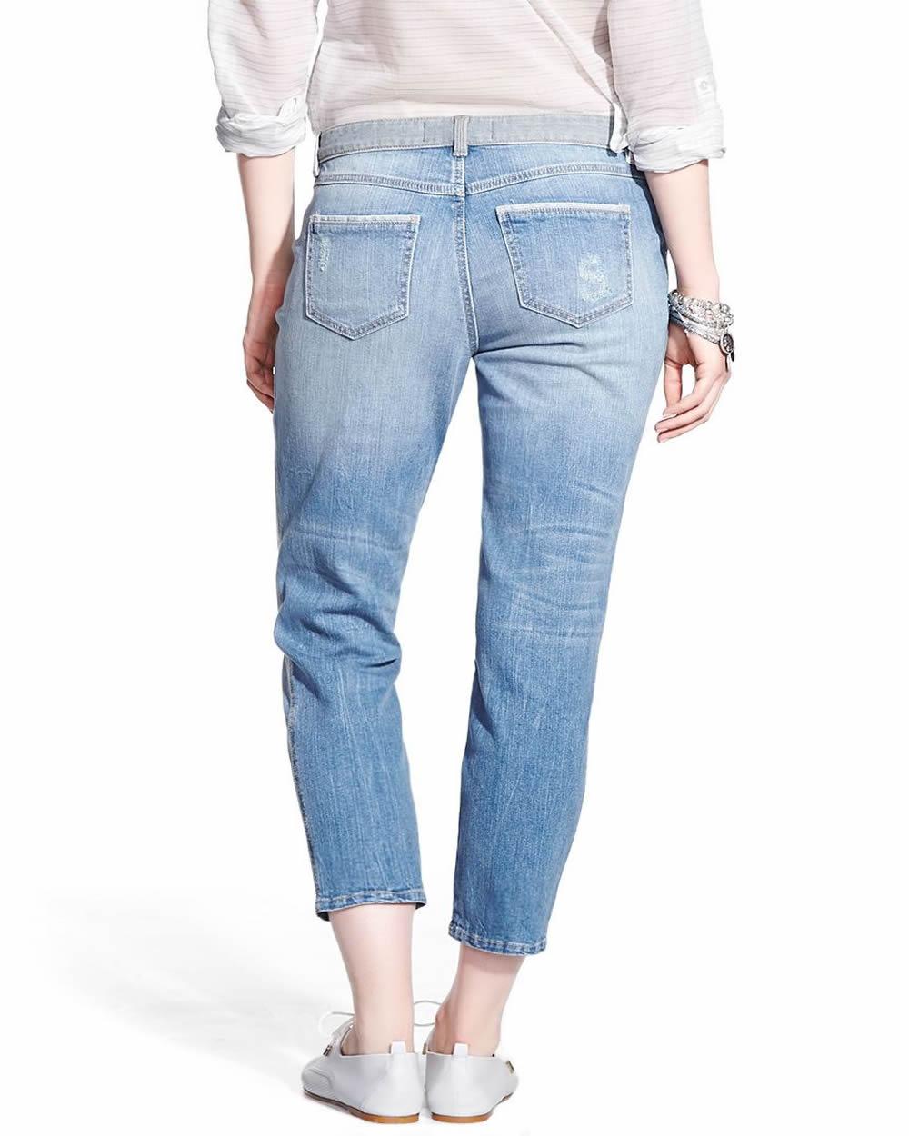 Boyfriend Jeans with Patches   Women   Reitmans